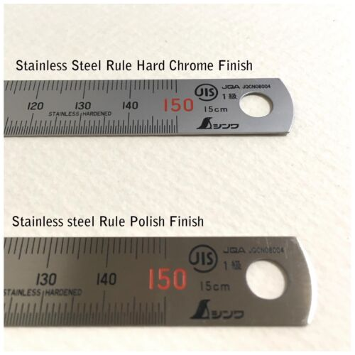 SHINWA Stainless Steel Rule Hard Chrome Finish with Magnet 60cm 600mm 13536