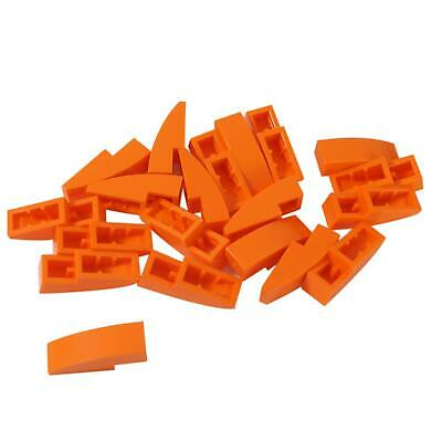 Lego 5 New Bright Light Orange Slopes Sloped Curved 3 x 1 No Studs Pieces