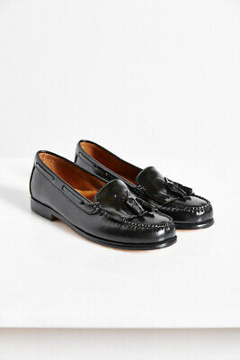 Women/'s Washington Black Leather Shoes  Loafers  Size 10 M NWOB Bass /& Co G.H