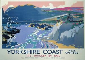 Yorkshire Coast Railway Advertising Metal Sign Wall Plaque Art Vintage Retro  a4