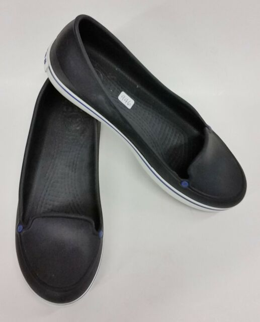 Crocs Shoes Slip-On Flats Blue Womens Size 10