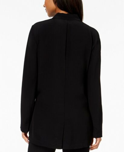 Fisher Crepe 298 Notch Long Jacket Eileen Tencel Xl Nwt Sort Viskose Collar Sqnx1w