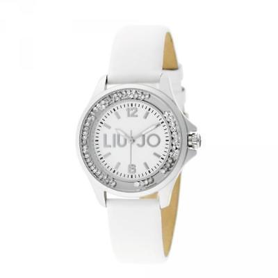 Orologio Donna LIU JO Luxury DANCING MINI TLJ740 Pelle Bianco Swarovski NEW
