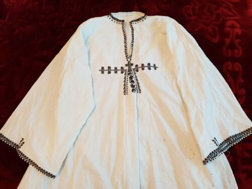 Hand Vintage Romanian Blouse Mens Embroidered 4Zw5qawng
