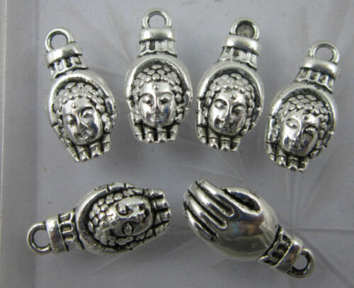 Lot 30//60pcs Retro style hands of Shakyamuni alloy charms Pendants 18x9mm
