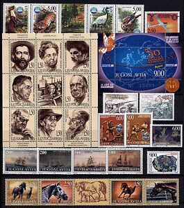 4199 Yugoslavia 1998 Complete Year Set, 44 stamps + 3 s/s + booklet **MNH