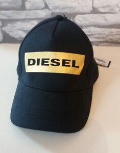 d5a3618a377 NEW !!! DIESEL Girl s BLACK   GOLD size 4-13 BASEBALL CAP HAT FLAT ...