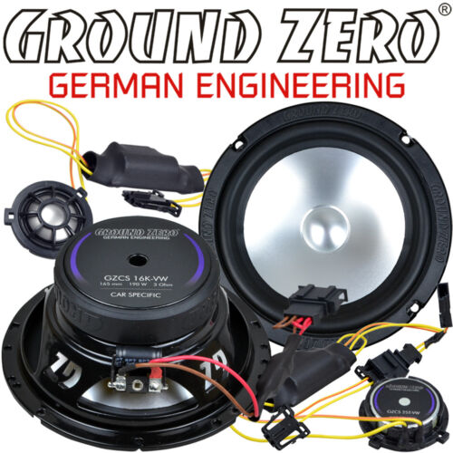 Ground Zero gzcs 165vw 16,5cm 2 vías compo altavoces set para VW Lupo hasta 2005