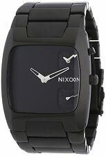 Nixon Men's Banks A060001 All Black Stainless Steel Duel Time Wrist Watch