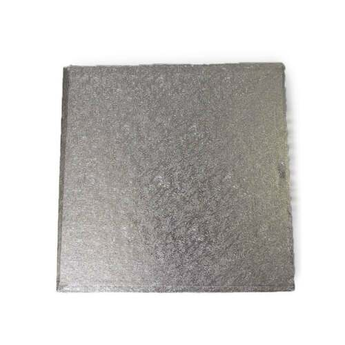Bulk Pack Of 10 The Cake Decorating Co Silver Square 3mm Cake Board