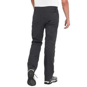 Eddie Bauer Mens Adventure Trek Pants Stretch Water Resistant Charcoal 38X32