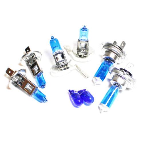 H7 H7 H7 501 55w Super White Xenon HID High//Low//Fog//Side Light Bulbs Set