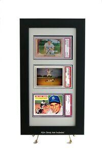 Framed-Display-for-3-PSA-Horizontal-Graded-Cards