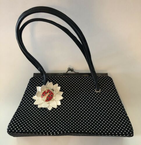 "RAMON TENZA Black & White Pin Dot Pattern ""Ladybug"