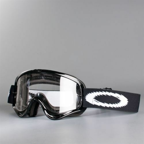 1335934996d Oakley O Frame MX Motocross Goggles Jet Black Clear Lens for sale online