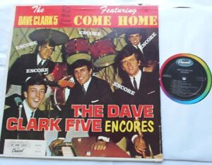 THE-DAVE-CLARK-FIVE-5-Encores-Come-Home-NM-CANADA-1965-MONO-Capitol-T-6116-LP