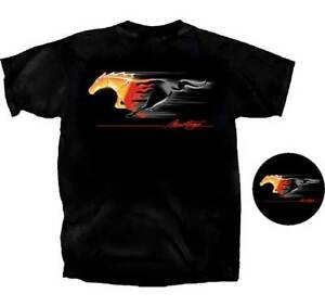 Ford-Mustang-Tribal-Running-Pony-BLACK-Adult-T-shirt