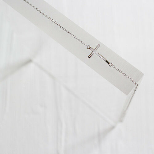 Fußkettchen Kreuz echt Sterling Silber 925 Fußkette Armkette Damen Armband