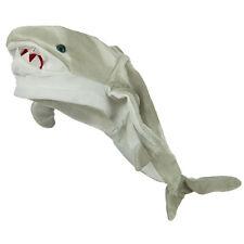 Plush Killer Great White Shark Hat Grey Novelty Jaws Ocean Costume Cap