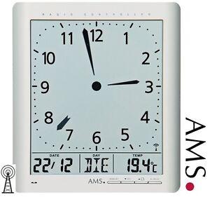 AMS-46-Horloge-murale-radio-pilotee-Numerique-de-bureau-Montre-FUNKY