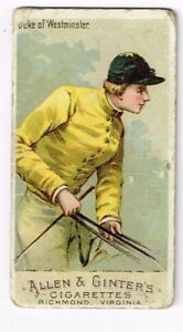 1888-Allen-amp-Ginter-039-s-Horse-Racing-Colors-of-the-World-Duke-of-Westminster-P-F