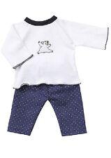Schwenk Vestidos de muñeca, Invierno Pijama con aplicación para 38-40 cm Muñecas