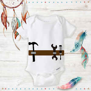Tool Belt Funny Baby Boy Onesies Daddy/'s Helper Costume Outfit Baby Shower Gift