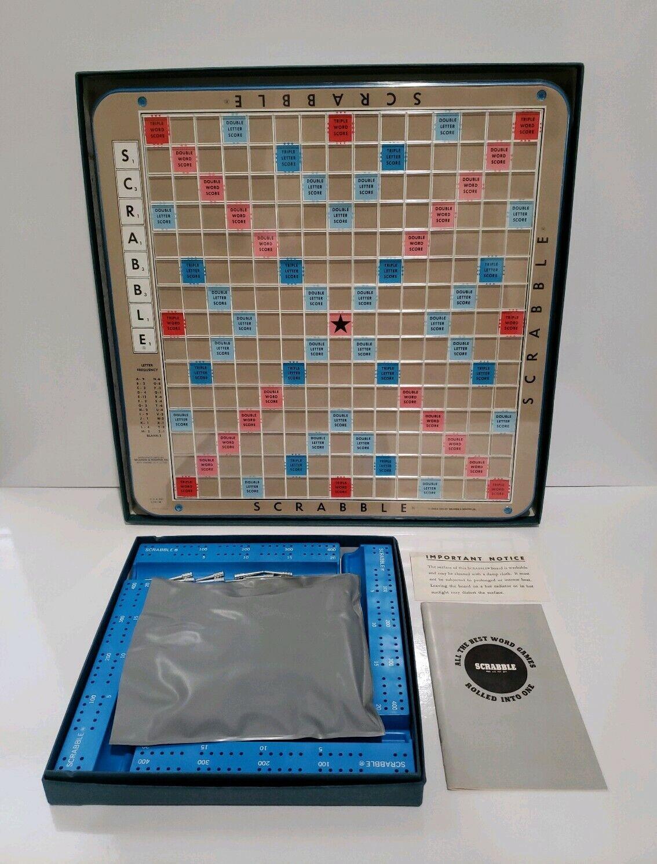 completare Scrabble Deluxe edizione  1966 Selchow & Righter Turntable Maroon Tiles  spedizione gratuita in tutto il mondo