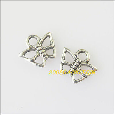 40Pcs Tibetan Silver Tiny Butterfly Charms Pendants 8.5x10mm