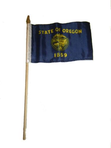 "6x9 6/""x9/"" State of Oregon Stick Flag wood Staff"