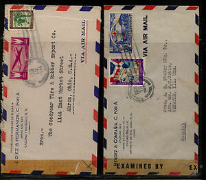 Dominican Republic 2 Censor Covers 30280 And 30911 Kl0225 Ebay
