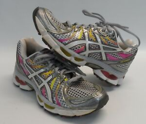 1fe9c0809c Womens ASICS Gel Nimbus 13 Pink Silver T192N Running Athletic Shoes ...