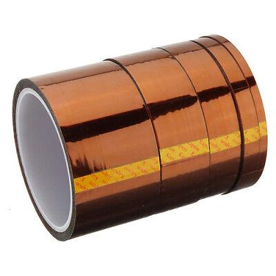 33m Folie Polyimid Band Klebeband hitzebeständiges Heißklebeband bis 350°C Neu