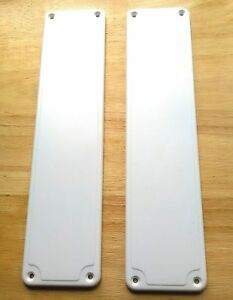 set of 2 plastic door finger plates white good quality. Black Bedroom Furniture Sets. Home Design Ideas