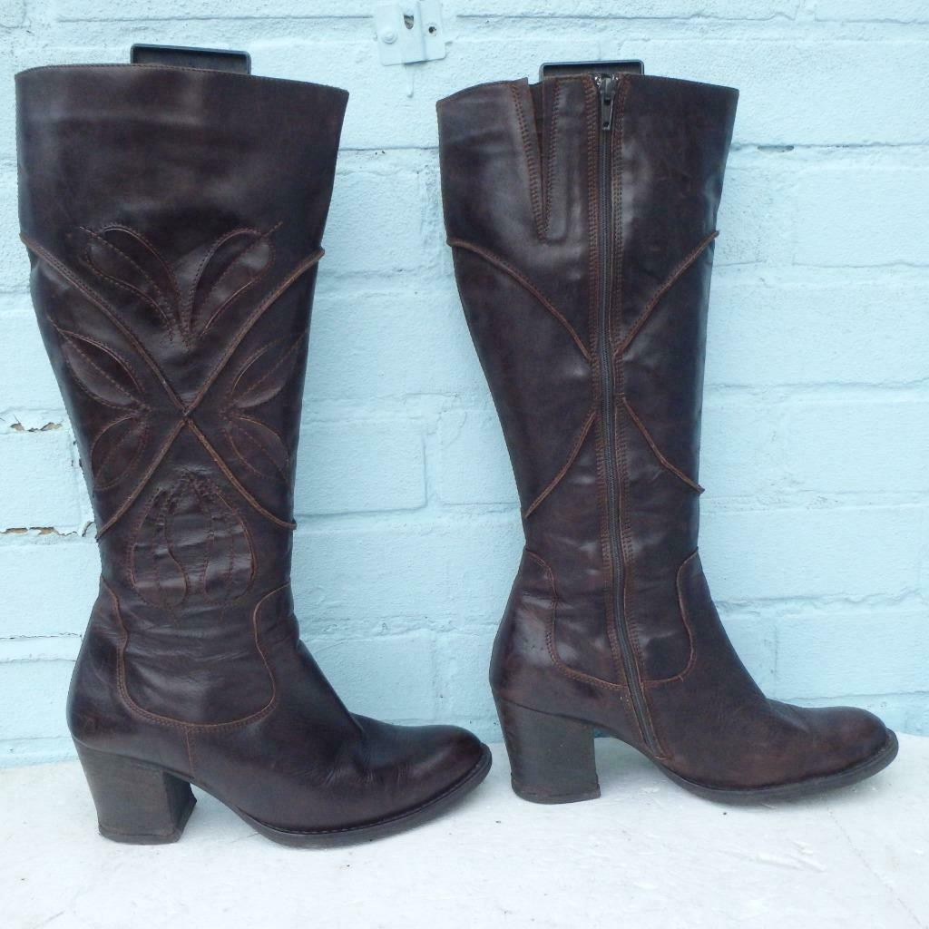 Clarks Leather Boots Size Uk 7 Eur 40 Womens Ladies  X  Brown Boots