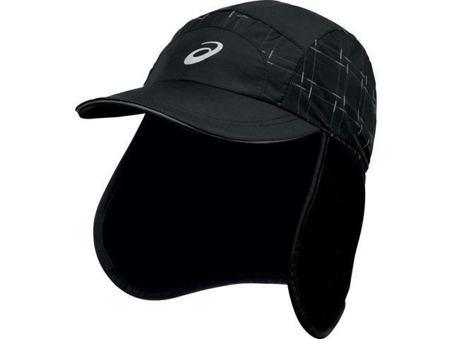 Mens ASICS Storm Shelter Fleece Hat Cap Water Wind Protection L xl Black  for sale online  359dc2175f99