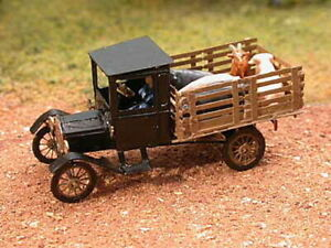 1019-Model-T-Micron-Art-Z-Scale-1923-Stake-bed-CAB-TRUCK-2-each-Brass-Kit