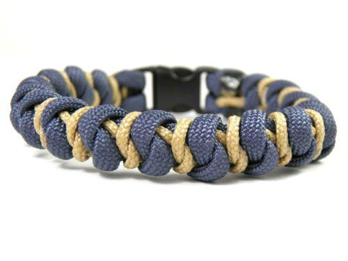 Männer Paracord Typ I /& III Armband-Snake mit Diamondknot-Surfer Armband