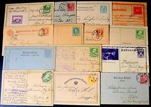 Austria-Cartoline-Postali-Lotto-da-14-differenti