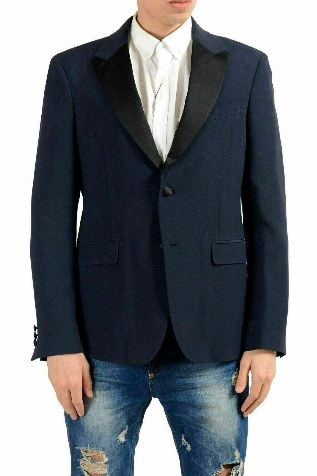 Versace Collection Herren Wolle Blau Blazer, die Sport Mantel Us 38 It   | Starke Hitze- und Hitzebeständigkeit  | Hochwertige Materialien  | Neues Produkt