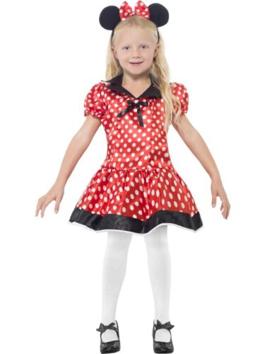 Bambine carino MISS MINNIE MOUSE LIBRO giorno Party Fancy Dress Costume Outfit 4-12 ANNI
