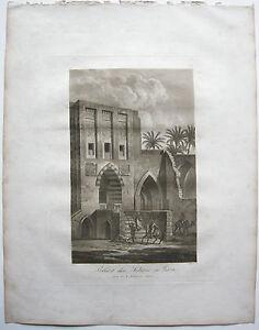 Antiquitäten & Kunst Gaza Palast Sultan Palästina Aquatinta Sepia Döbler 1827 Heiliges Land AusgewäHltes Material