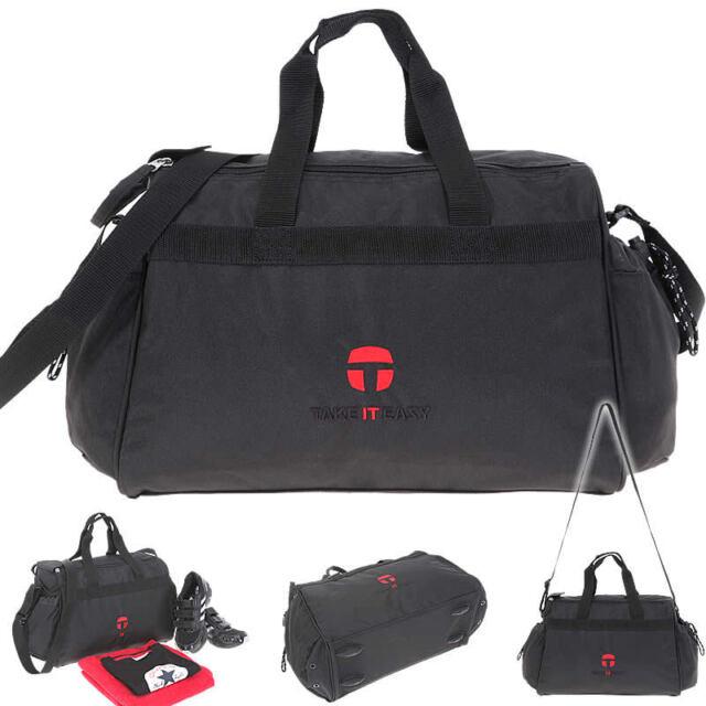 TAKE IT EASY Sporttasche WIEN Sport Tasche Schulsporttasche KARO AUSWAHL Flasche