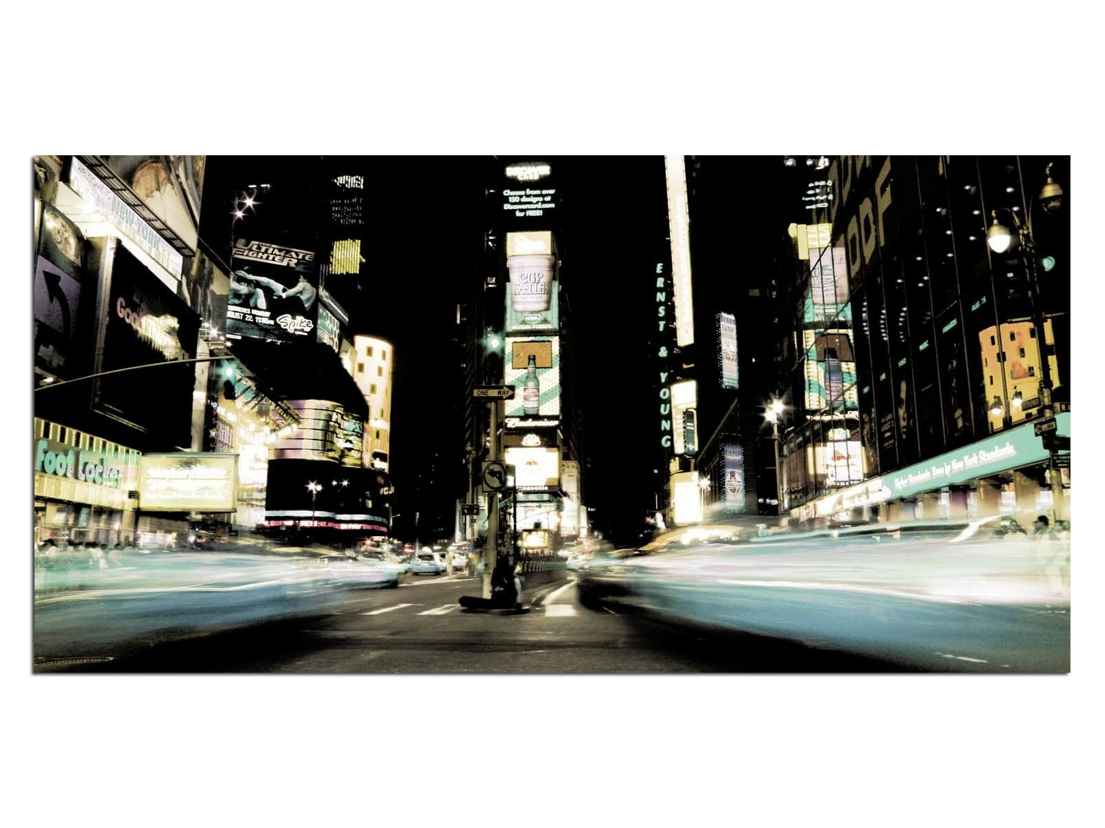 HD Glasbild EG4100500918 TIMES SQUARE NYC RETRO 100 x 50 cm Wandbild STADT