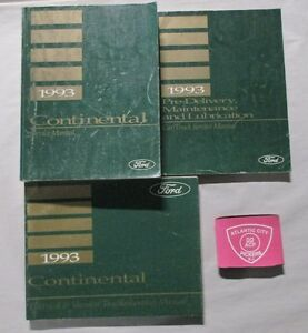 1993 ford lincoln continental service shop repair manual set with rh ebay com