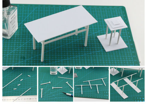 ABS Plastic Strip Round//Square Hollow Rod//Solid Bar DIY Model Detailing Material