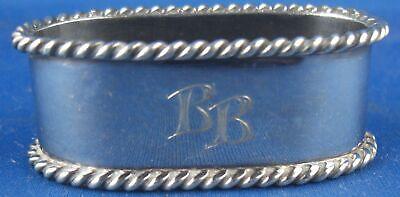 Clever Serviettenring Herman Bauer Gravur Bb 925er Sterling Silber