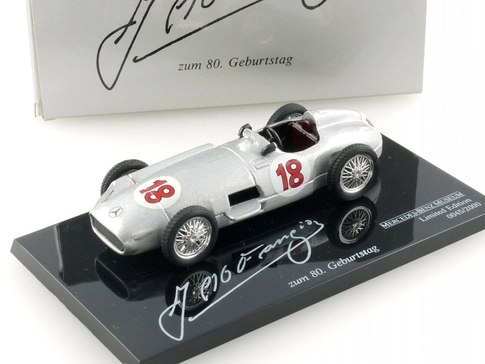 Pfuit Mercedes MB W 196 J.M. FANGIO au 80. anniversaire limitée neuf dans sa boîte 1411-14-33