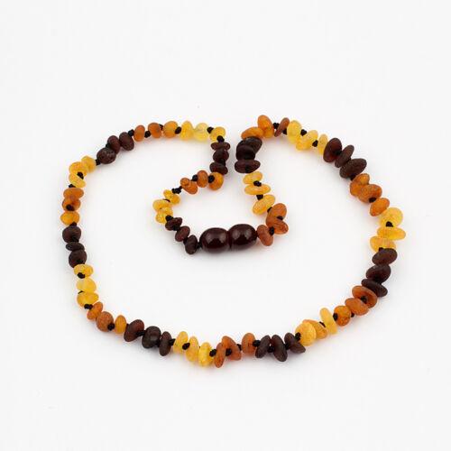 Raw NATURAL BALTIC AMBER semi-arrondis perles bébé collier