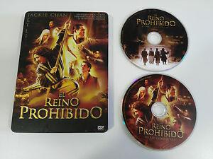 EL-REINO-PROHIBIDO-JET-LI-JACKIE-CHAN-2-DVD-CASTELLANO-E-INGLES-STEELBOOK-AM